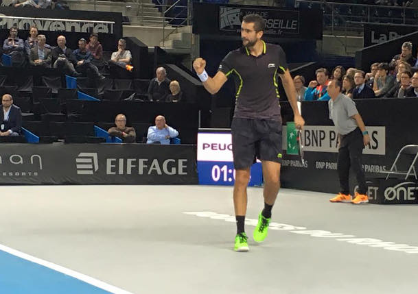 Cilic Counters Paire Charge to Reach Marseille Final