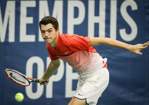 Fritz Fires Into First Final in Memphis