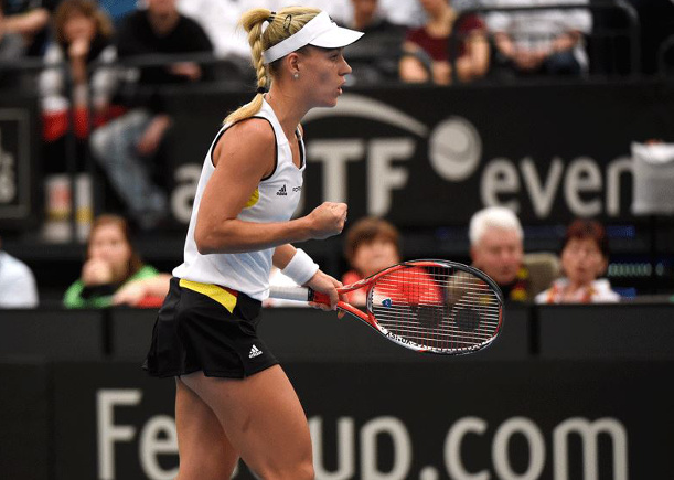 Kerber Levels German Fed Cup Tie with Switzerland