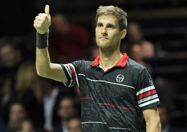Klizan Saves 5 Match Points to Reach Rotterdam Semifinals