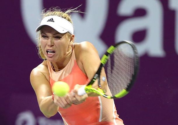 Wozniacki Ends Match With Injury in D.C.