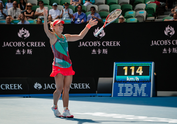 Kerber Tops Konta, Will Play Serena in AO Final