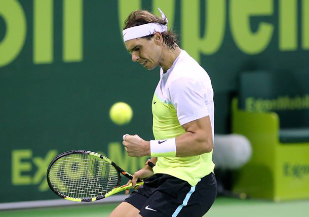 Nadal Survives Threat to Reach Doha Semifinals