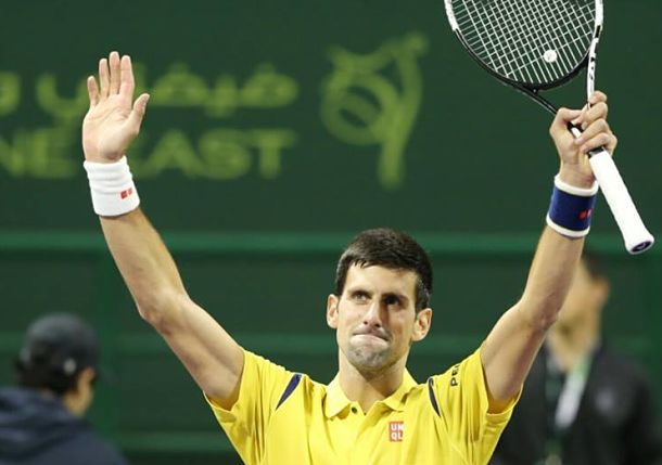 Djokovic Holds off Mayer to Reach Doha Semis