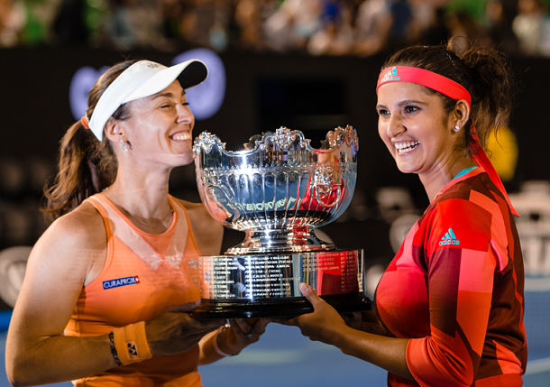 Hingis and Mirza Claim Third Straight Major Title