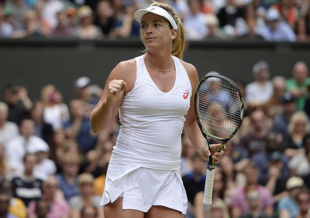 Vandeweghe Rises, Stephens Falls On Middle Sunday