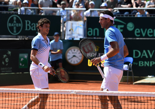 Argentina Wins Doubles, Leads Italy