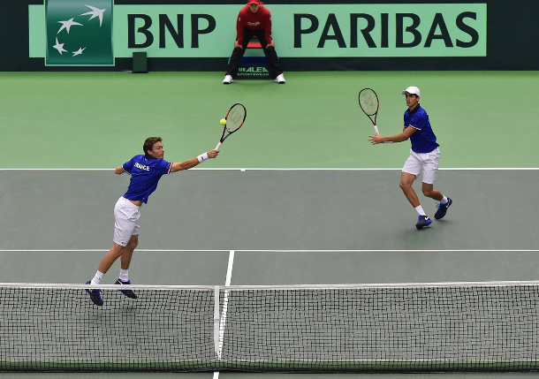 France Claims Doubles, One Win From DC Semifinals