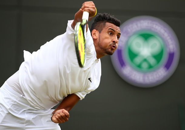 Watch: Kyrgios On Key To Serve