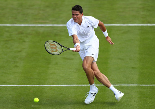 Raonic Marches into Wimbledon Semis