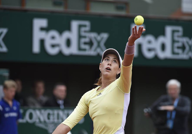 Muguruza Halts Rogers' Run to Reach RG Semifinals