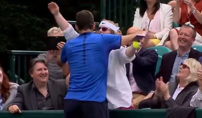 Video: Delpo Makes a Fan's Day at Boodles