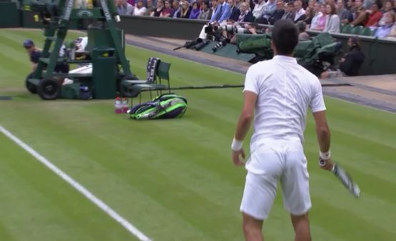 Djokovic's World-Class Return Lands in a Trash Can
