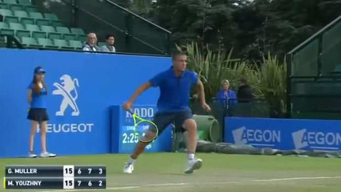 Youzhny Works a Bit of Magic Past Muller in Nottingham