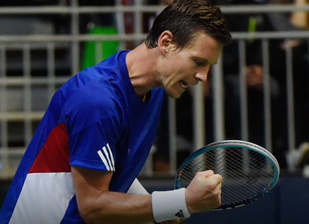 Berdych Fights to Level; Davis Cup Recap