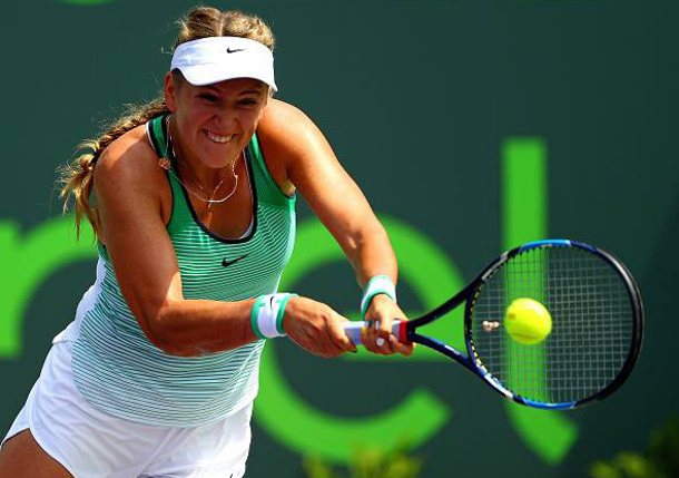 Azarenka Powers Past Konta Into Miami Semifinals