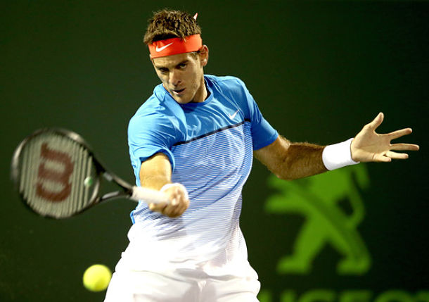 Del Potro Sets Second-Round Clash with Federer in Miami