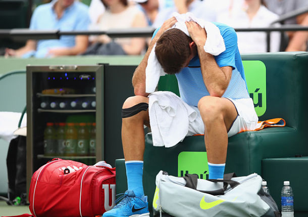 Del Potro Bothered by Wrist in Loss to Zeballos