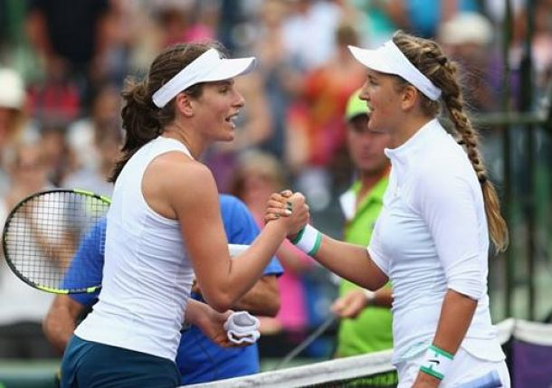 Azarenka Impressed with Konta's Potential