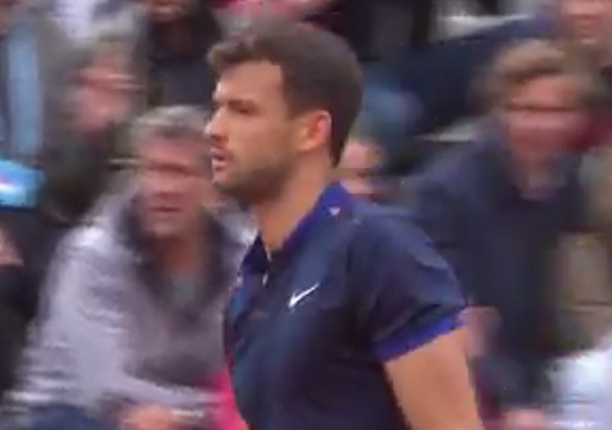 Watch: Dimitrov Bends It Down the Line