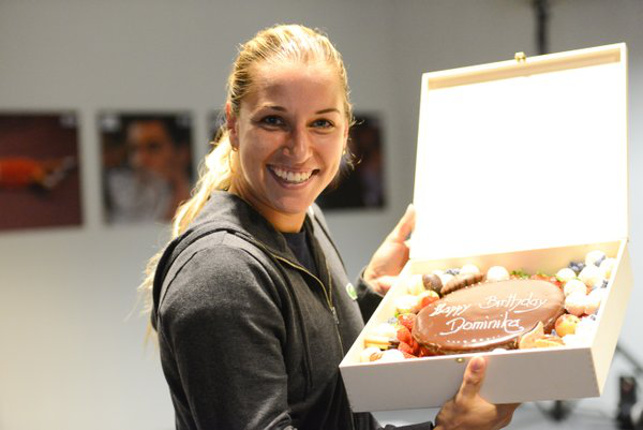 Cibulkova Celebrates 27th Birthday Bursting into Madrid Final