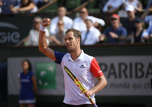 On 13th Attempt, Gasquet Into RG Quarterfinals