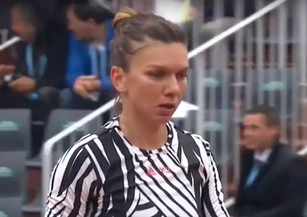 Watch: Relentless Halep Hammers Away