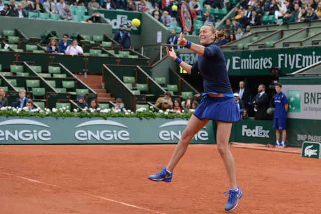 Kvitova Withstands Kovinic at Roland Garros