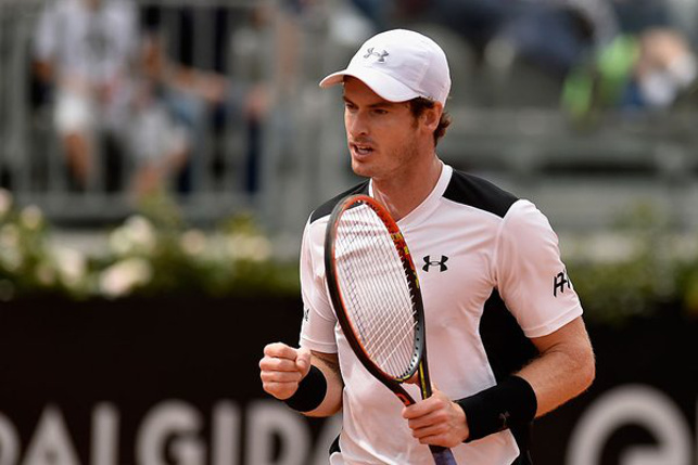 Murray Tames Goffin, Wind to Reach Rome Semifinals