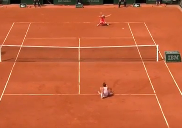 Watch: Strycova Splits, Sits and Stuns