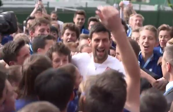 Video: Nole and the Ballkids Have a Jog