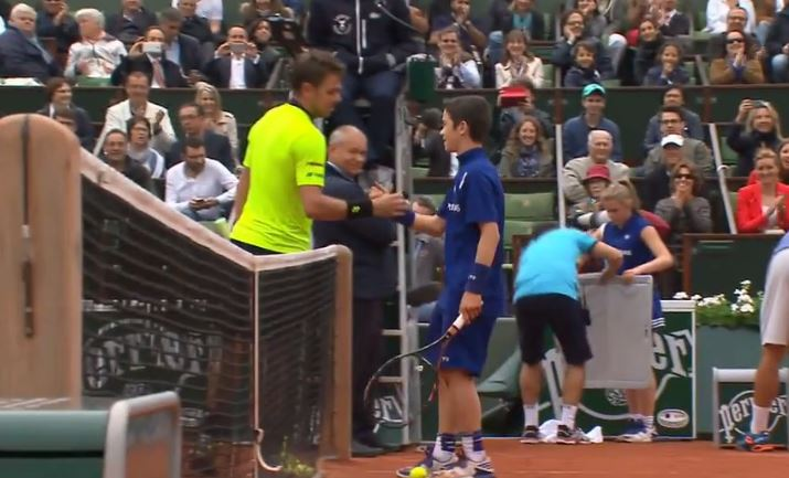 Watch: Wawrinka Hits with Ballkid During Troicki Injury Time
