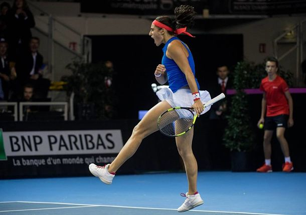 Garcia Knocks off Kvitova to Bring France Even in Fed Cup Final
