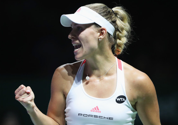 Kerber Crushes Halep in Singapore
