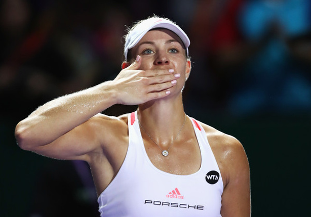 Watch: Kerber Flexes Endorsement Muscle