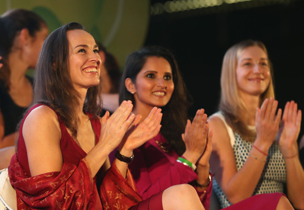 Watch: Hingis, Mirza Reunite in Singapore