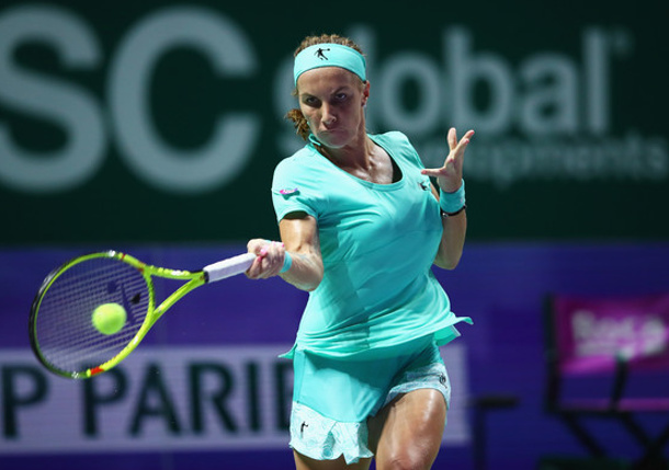 Kuznetsova Saves Match Point, Repels Radwanska In WTA Finals