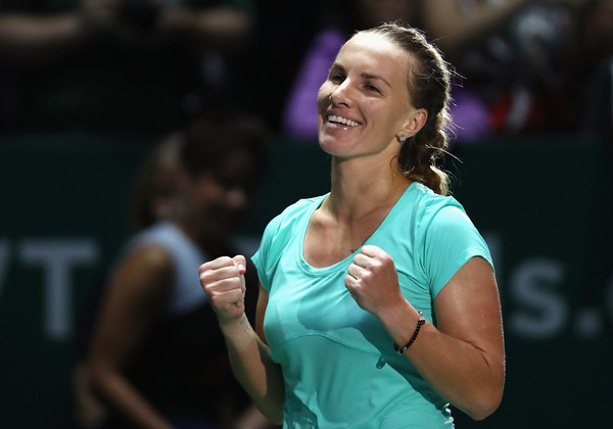 Kuznetsova Rallies Past Pliskova in Singapore Thriller