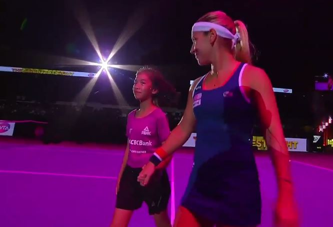 Cibulkova Forgets to Grab Ball Girl in Funny Pre-Match Gaffe in Singapore