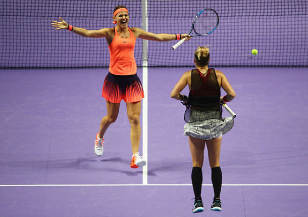 Mattek-Sands and Safarova Roar into Doubles Final at Singapore