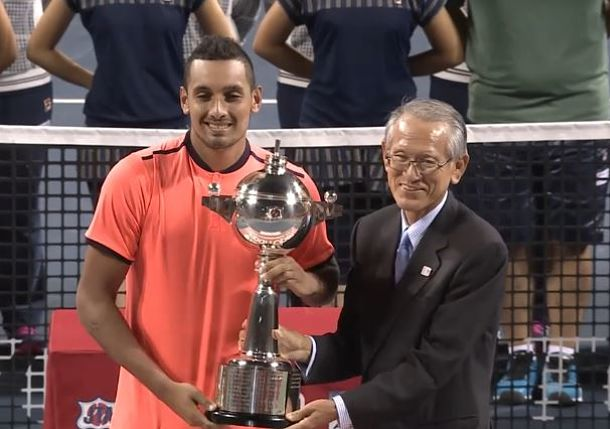 Kyrgios Battles Past Goffin in Tokyo Final
