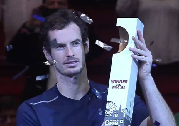 Murray Wins Vienna Title, Pushes Closer to No.1