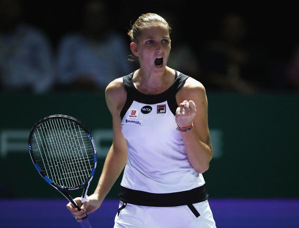 Pliskova Saves Match Point to Derail Muguruza in Singapore