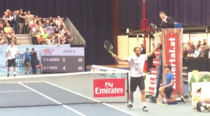 Watch: Troicki Goes Nuts over a Call—Again!