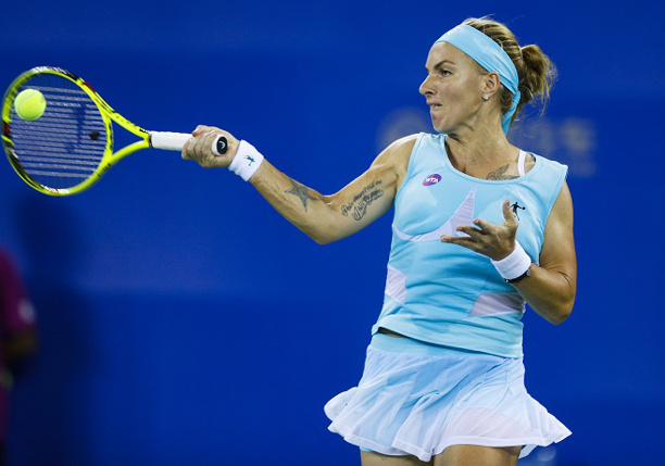 Kuznetsova Saves Match Point Edging Radwanska in Wuhan