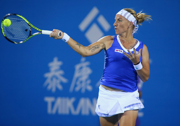 Kuznetsova, Keys, Halep Advance in Wuhan