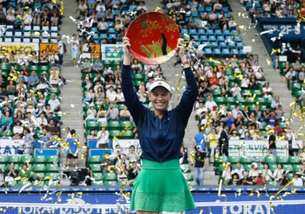 Wozniacki Wins Tokyo, First Title in 19 Months