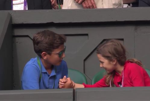 Federer's Daughter Does Adorable Things During Dad's First-Round Match at Wimbledon