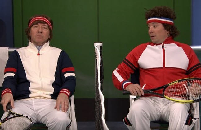 Watch: McEnroe Crashes Spacey vs. Fallon Match