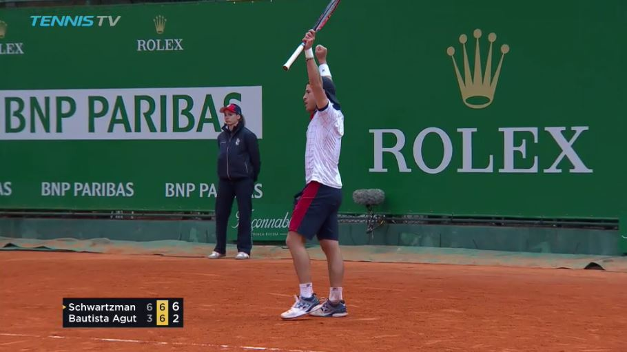 Video: Schwartzman Scampers and Delivers Tweentastic Point